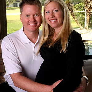 Beth Bauer and her husband Andy Grace. Bauer met Grace on her 28th birthday in 2008 while driving the beverage cart at Heritage Harbor Golf and Country Club.