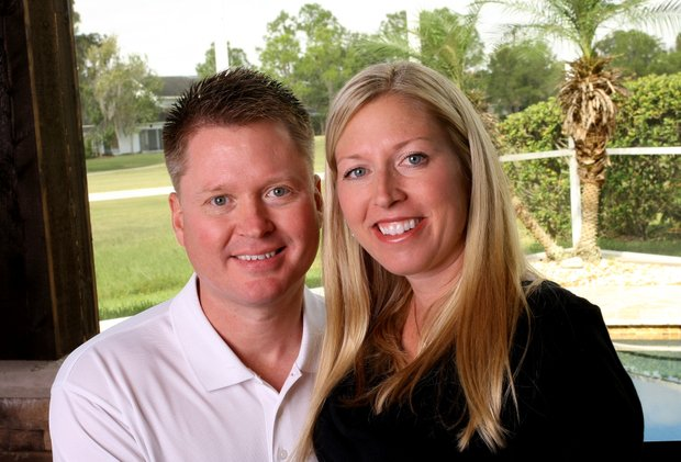 Beth Bauer and her husband Andy Grace. Bauer and Grace who met in 2008 where engaged at TPC Sawgrass.