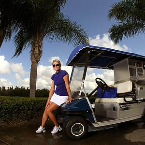 Beth Bauer, held a job as the beverage cart driver at Heritage Harbor Golf and Country Club in Lutz, Fla. She also attended University of Phoenix online obtaining a degree in teaching.