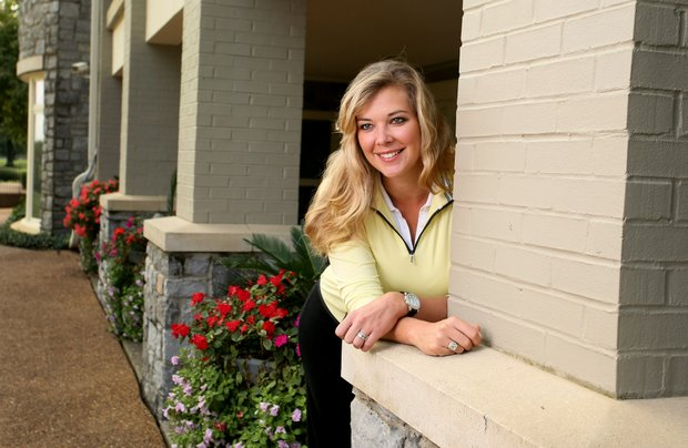 May Wood-Frederiksen photographed at Hillwood Country Club, where she is an assistant pro. She has visions of playing the U. S. Women's Open in 2014 when it returns to Pinehurst.