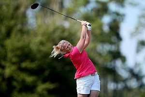 Holly Clyburn of England during the 57th Harder Hall Women's Invitational. Clyburn played in the second to lasyt group.