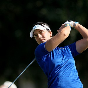 Kyle Roig who plays college golf for UCLA watches her tee shot during the 57th Harder Hall Women's Invitational.