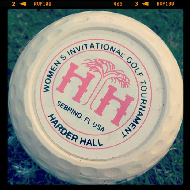 A tee marker at the 57th Harder Hall Women's Invitational.