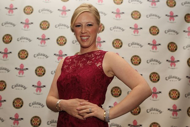 LPGA player Morgan Pressel arrives to the Morgan and Friends opening evening event at the St. Andrews Country Club in Boca Raton, Florida.