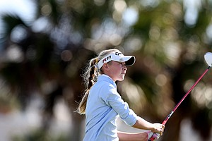 Nelly Korda, the little sister of LPGA player, Jessica Korda during Thursday's round. Korda is T35.