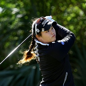 Ariya Jutanugarn hits her tee shot at No. 2 during the final round of the 86th South Atlantic Amateur at Oceanside Country Club.