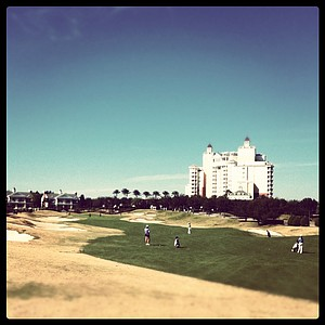 A view of hole #9 during the second round of the Annika Invitational.