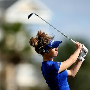 Shannon Aubert during the final round of the Annika Invitational at Reunion Resort.-