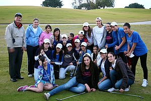 Girls from Peace Players who had never been introduced to golf before.