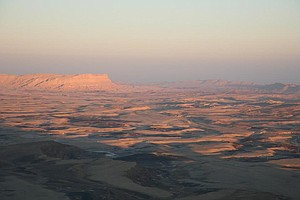 The sunset over Ramon Crater.