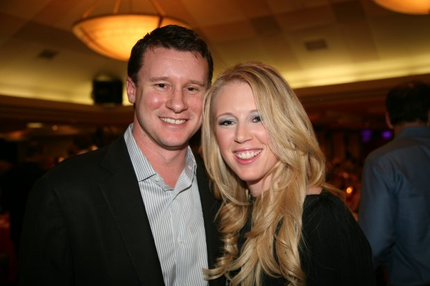 Morgan Pressel and her fiance, Andy Bush.