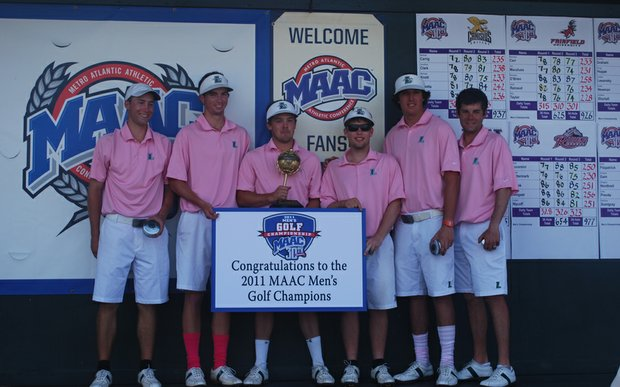 The Loyola men's team after winning the 2011 MAAC Championship