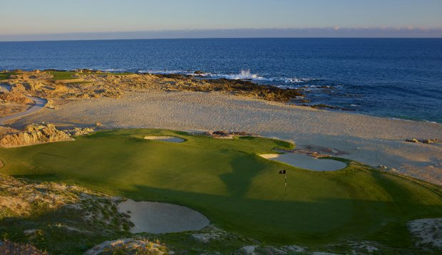 The new seaside seventh hole is the best of the alterations made to Cabo del Sol's Ocean Course.