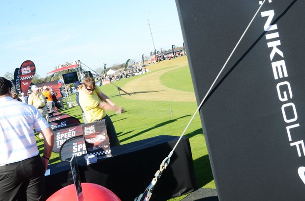 Golfers took to the range to test a slew of new products.