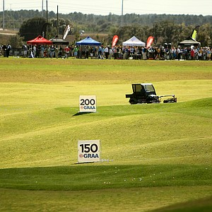 The driving range at Orange County National during Demo Day.