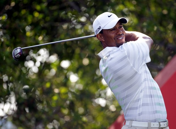 Tiger Woods will tee off at 2:45 a.m. EST.