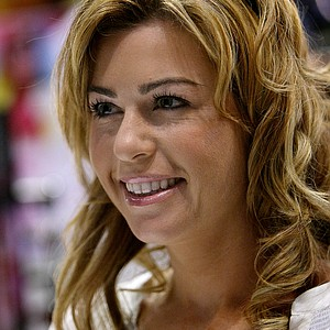 LPGA star Paula Creamer during her appearance at Sundog eyewear during the 2012 PGA Merchandise Show.