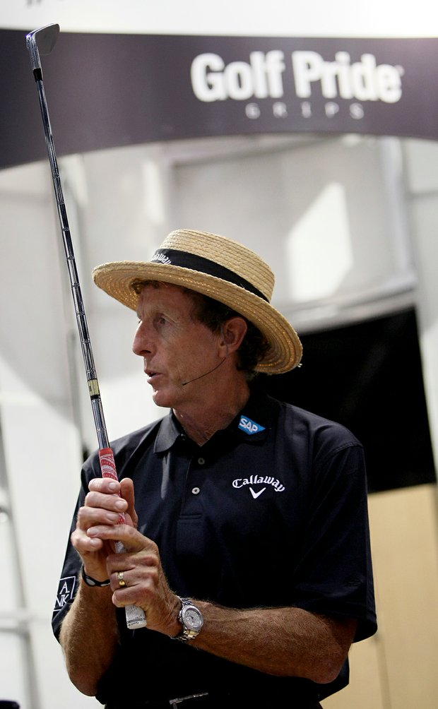 David Leadbetter at the Golf Pride grips booth at the 2012 PGA Merchandise Show.