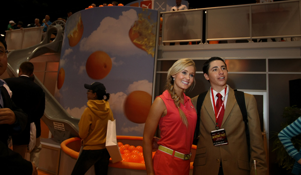 "Blair O'Neal from Golf Channel's ""Big Break: Prince Edward Island"" at a meet and greet at Cobra Puma booth at the 2012 PGA Merchandise Show."