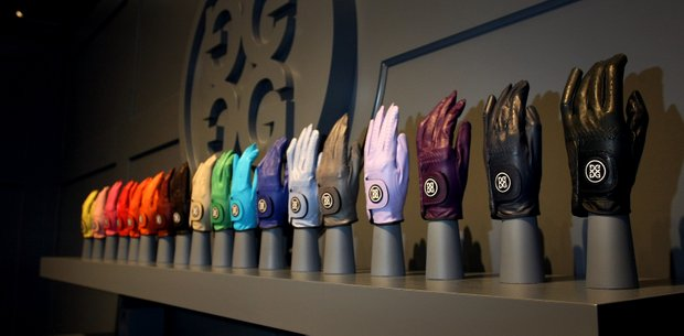 Gloves from the G/Fore line up at the 2012 PGA Merchandise Show.