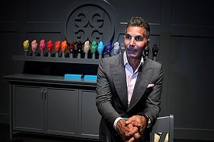 Designer Mossimo Giannulli of G/Fore gloves at the 2012 PGA Merchandise Show.