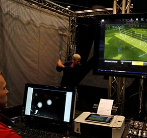 Bridgestone had three ball fitting stations set up during the 2012 PGA Merchandise Show.