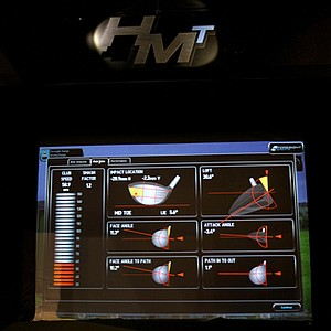 Foresight Sports introduced the Head Measurement Technology simulator during the 2012 PGA Merchandise Show. The HMT uses stereoscopic cameras to deliver accurate club head data analysis. The image above is a picture of the data taken from one's swing.