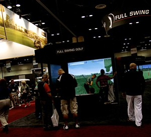 Full Swing Golf simulators were one of many simulator set ups at the 2012 PGA Merchandise Show,