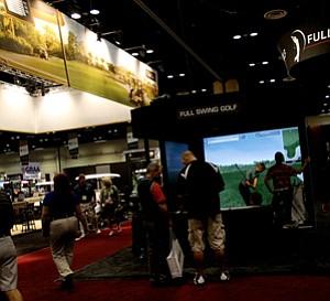 Full Swing Golf simulators were one of many simulator set ups at the 2012 PGA Merchandise Show,
