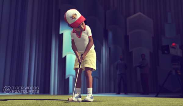 Tiger Woods on the Mike Douglas Show as a toddler as part of the Legacy Mode in the new EA Sports Tiger Woods PGA TOUR '13 video game.