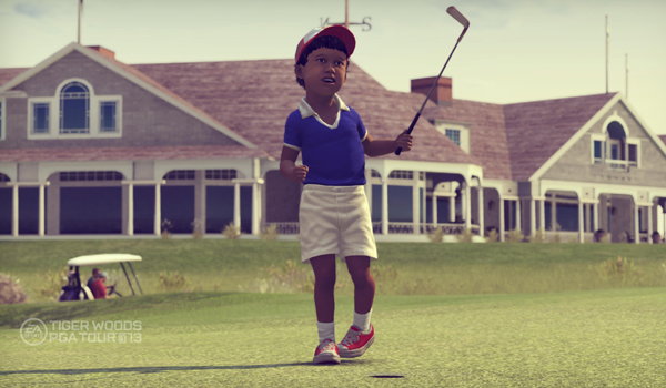 Tiger Woods on the course as a toddler as part of the Legacy Mode in the new EA Sports Tiger Woods PGA TOUR '13 video game.