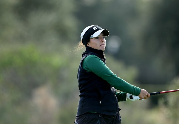Maribel Lopez Porras of Tulane posted a 69 during the first round of the UCF Challenge.