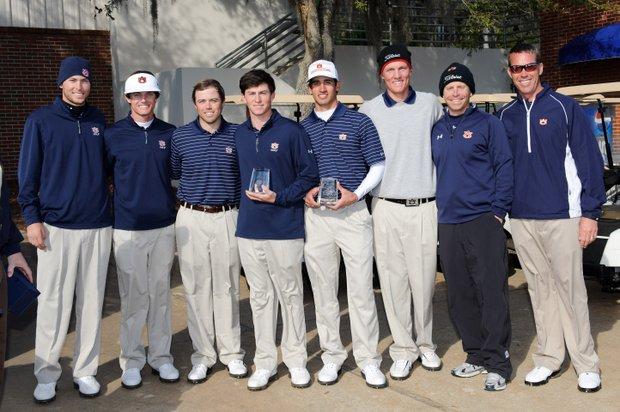 Auburn men's golf team after winning the 2012 Gator Invitational.