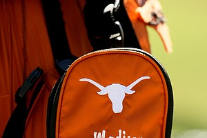 The golf bag of Madison Pressel of Texas during the second round. Pressel is currently T43.