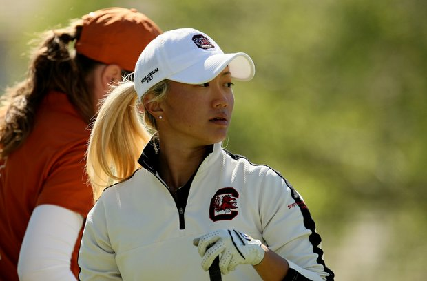 Suzie Lee of South Carolina during the second round. Lee is currently T39 heading into the final round.