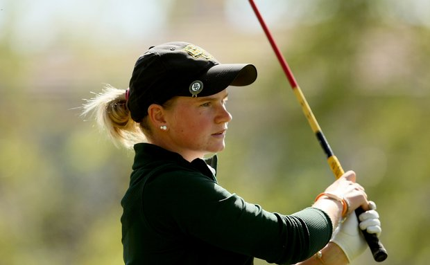 Baylor's Hayley Davis during the second round of the UCF Challenge at Red Tail Golf Club in Sorrento, Fla.