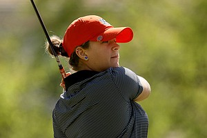 Auburn's Victoria Trapani during the second round of the UCF Challenge at Red Tail Golf Club in Sorrento, Fla.