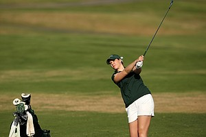 Christine Meier of Michigan State during the final round. Meier shot a tournament total 218 and was T6.