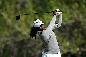 April McCoy of TCU during the final round of the Central District Invitational. McCoy finished T13.