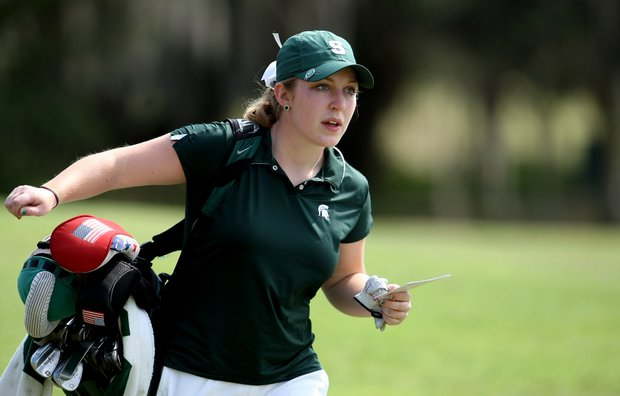 Caroline Powers of Michigan State during the final round. Powers placed 15th for the tournament.