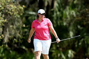Vanderbilt's Lauren Stratton during the final round. Stratton posted T13 for the tournament.