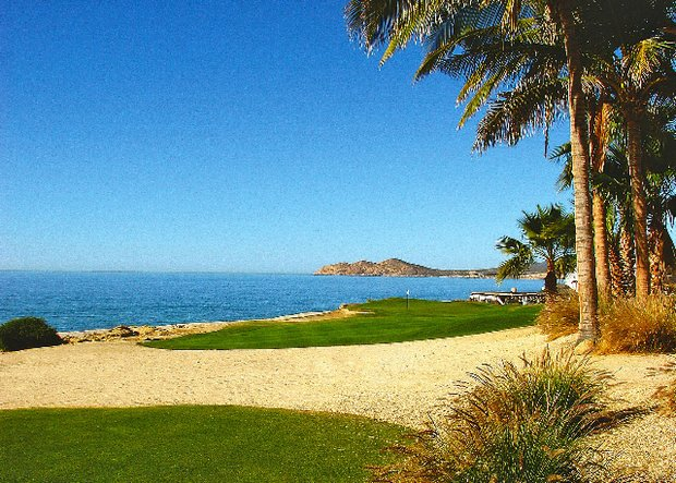 The par-3 15th at Cabo Real sits adjacent to the Sea of Cortez.