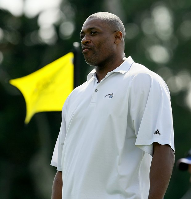 Former NBA player Nick Anderson played alongside Bo Outlaw at the All-Star Celebrity Golf Invitational at Bay Hill Club and Lodge.