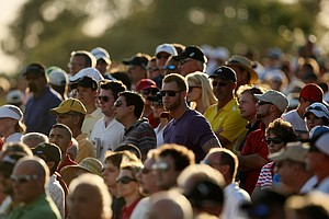 The crowd following Rory McIlroy, Keegan Bradley and Kyle Stanley on Friday.