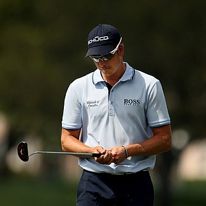 Henrik Stenson plays No. 8 at PGA National during Round 3 of the Honda Classic.
