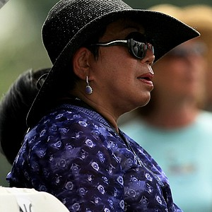 Tiger Woods' mom, Tida Woods, watches during the third round of the Honda Classic at PGA National.