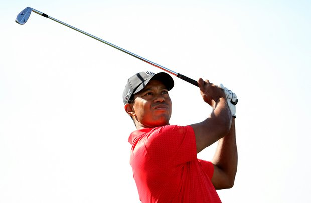 Tiger Woods on Sunday at the Honda Classic at PGA National in Palm Beach Gardens, Fla. Woods made a charge by posting a 62 on Sunday.