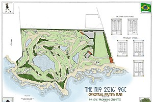 Hanse Golf Design's Rio 2016 Olympic Golf Course conceptual routing plan