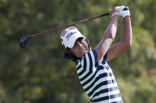 Julieta Granada during final round golf action from the CME Group Titleholders.