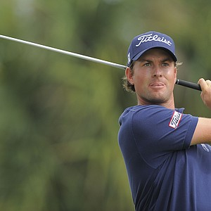 Webb Simpson during the first round of the WGC-Cadillac Championship.